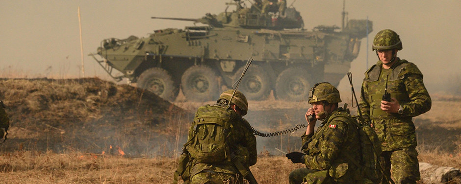 Slide - Canadian Army soldiers practice live fire exercises